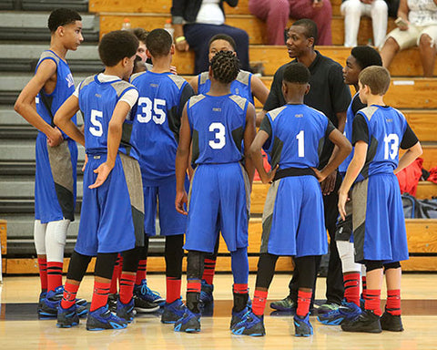 The Orlando Team Jayhawks in a timeout
