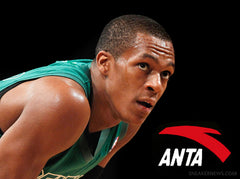 Rajon Rondo joined his former teammate Kevin Garnett on the roster of Anta athletes.