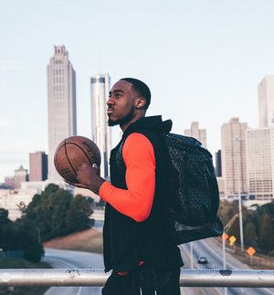 Road Trip Basketball Back Pack - Black in Action