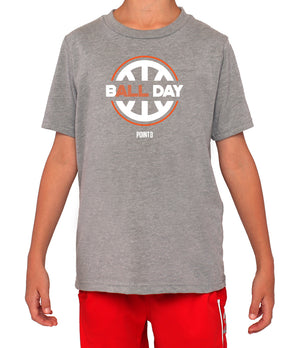 Youth B(ALL) Day Graphic T-Shirt - Grey