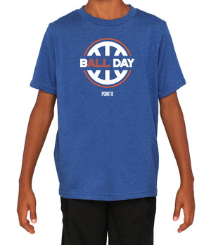 Youth B(ALL) Day Graphic T-Shirt - Royal