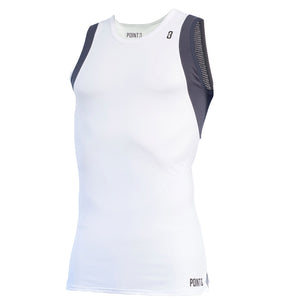 Youth BASE LT Lightweight Base Layer Compression Basketball Shirt - White/Grey
