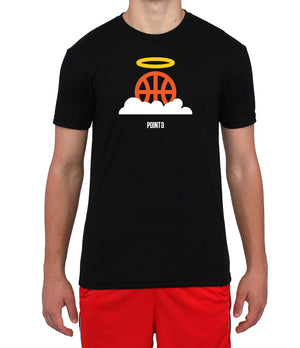 Basketball Heaven Graphic T-Shirt - Black