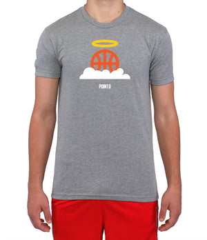 Basketball Heaven Graphic T-Shirt - Grey