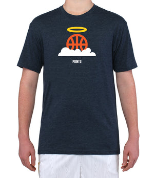 Basketball Heaven Graphic T-Shirt - Navy