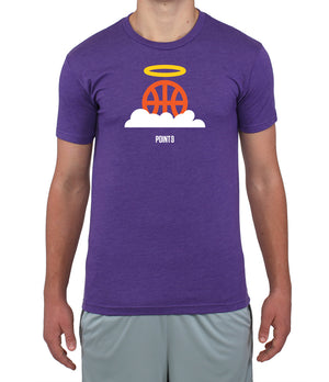 Basketball Heaven Graphic T-Shirt - Purple