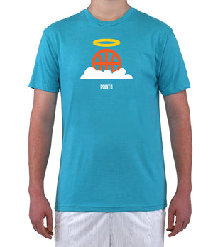 Basketball Heaven Graphic T-Shirt - Light Blue
