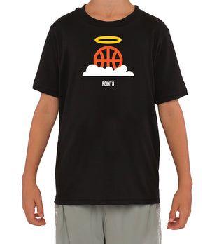 Youth Basketball Heaven Graphic T-Shirt - Navy