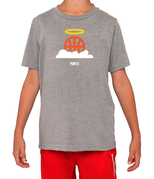 Youth Basketball Heaven Graphic T-Shirt - Grey