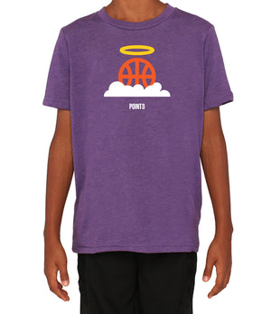 Youth Basketball Heaven Graphic T-Shirt - Purple