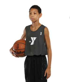 Reversible LT Unisex Lightweight Basketball Jersey - Black/White - On Model
