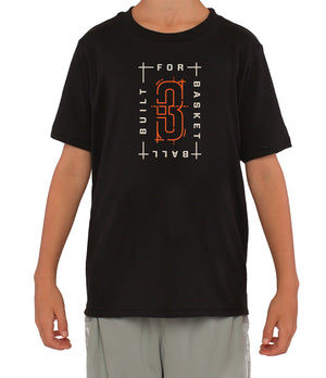 Youth Built For Basketball Graphic T-Shirt - Black