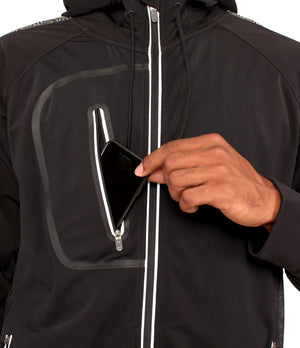 DRYV EDG3 Travel Jacket - Black - Top Pocket