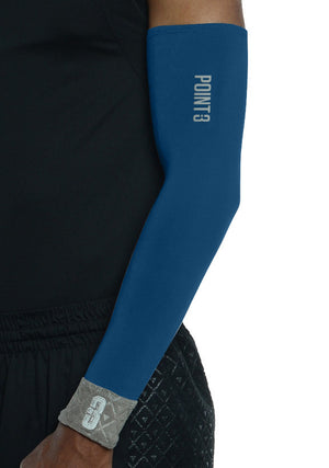 Shooter LT Unisex Lightweight Compression Shooting Sleeve - Deep Blue/Grey