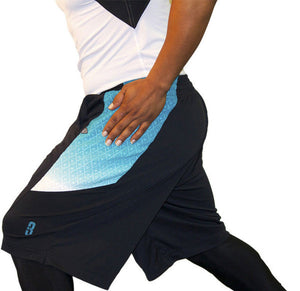 DRYV BALLER 2.0 Dry Hand Zone Basketball Shorts - Black/Ombre Hand Wipe