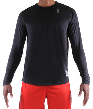 Fadeaway Long Sleeve Shooting Shirt - Black