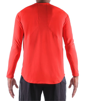 Fadeaway Long Sleeve Shooting Shirt - Red Back