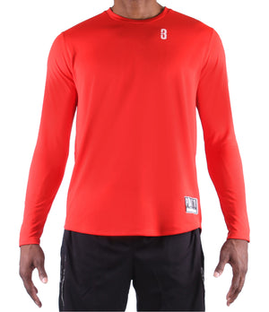 Fadeaway Long Sleeve Shooting Shirt - Red