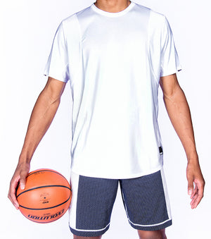 Hustle Short Sleeve Shooting Shirt - White Front