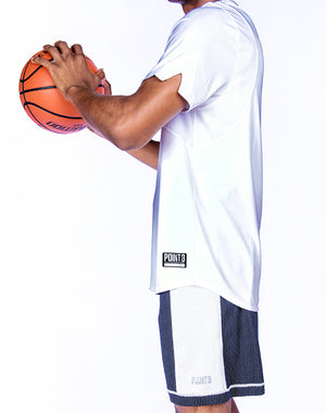 Hustle Short Sleeve Shooting Shirt - White Side