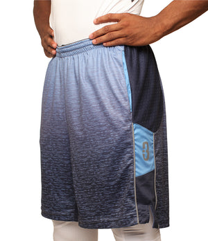 Faded/Blue Ombre DRYV Baller 3.0 Mens Dry Hand Zone Basketball Shorts Front