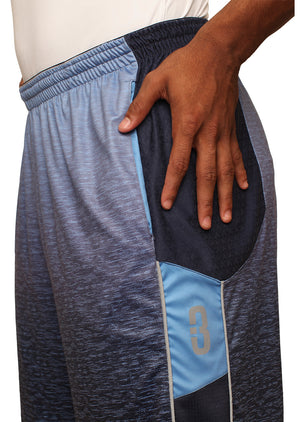 Faded/Blue Ombre DRYV Baller 3.0 Mens Dry Hand Zone Basketball Shorts Side Hand Wipe