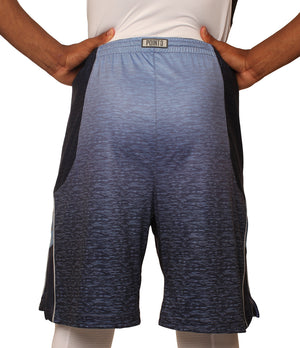 Faded/Blue Ombre DRYV Baller 3.0 Mens Dry Hand Zone Basketball Shorts Back