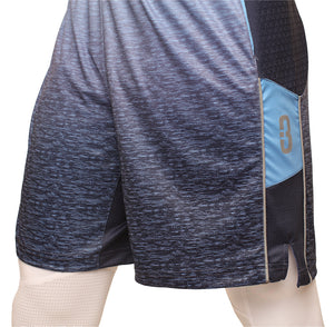 Faded/Blue Ombre DRYV Baller 3.0 Mens Dry Hand Zone Basketball Shorts Side