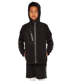 Youth DRYV EDG3 Travel Jacket - Black - Front Full