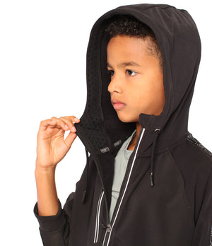 Youth DRYV EDG3 Travel Jacket - Black - Inside Hood