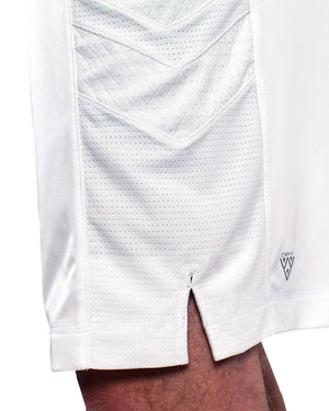 Elevate Shorts - Triple White side DRYV