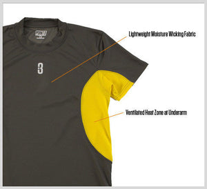 ISO - Short Sleeve Compression T-Shirt - grey/yellow - features