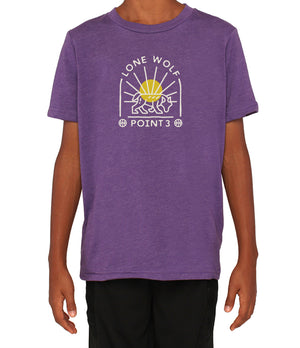 Youth Lone Wolf Graphic T-Shirt - Purple