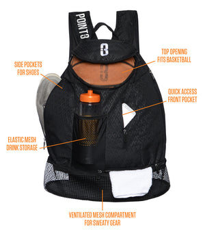 POINT 3 Road Trip Basketball Back Pack - Detailed Descriptions