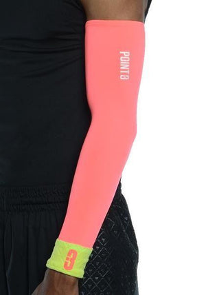 Shooter LT Unisex Lightweight Compression Shooting Sleeve - Pink/Green Flash