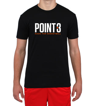 POINT 3 Made for Basketball T-shirt - Black