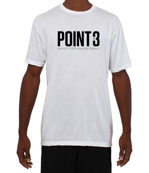"POINT 3 ""Made for Basketball"" Brand T-Shirt - White"