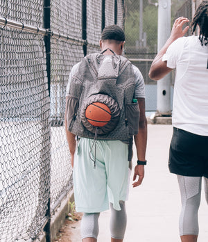 Road Trip 2.0 Basketball Backpack - Grey - Walking from Court