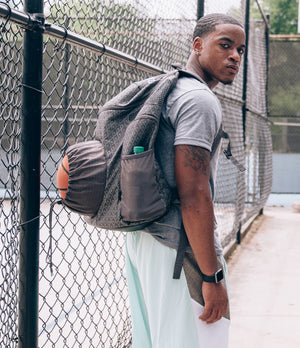 Road Trip 2.0 Basketball Backpack - Grey - Looking Back