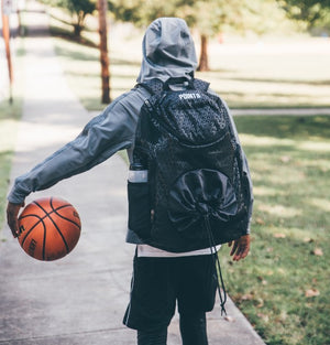 Road Trip 2.0 Basketball Back Pack - Black - Dribbling