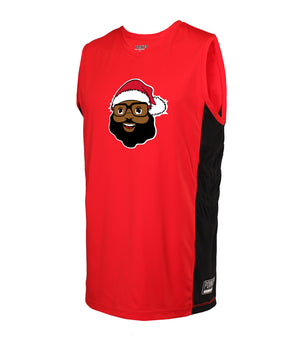 BLACK SANTA OFFICIAL HOLIDAY HOOPER PLAYER JERSEY