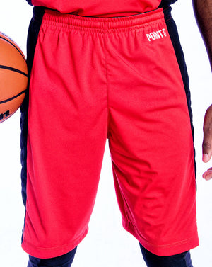 Youth Elevate Shorts - Red/Black