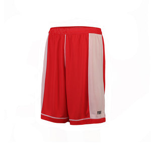Dual Threat Single Layer Reversible Shorts - Red/White