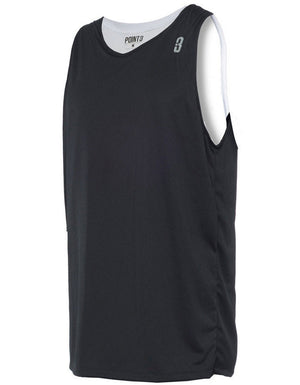 Reversible Game Unisex Basketball Jersey - Black/White