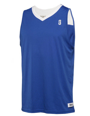Reversible Game Unisex Basketball Jersey - Royal/White