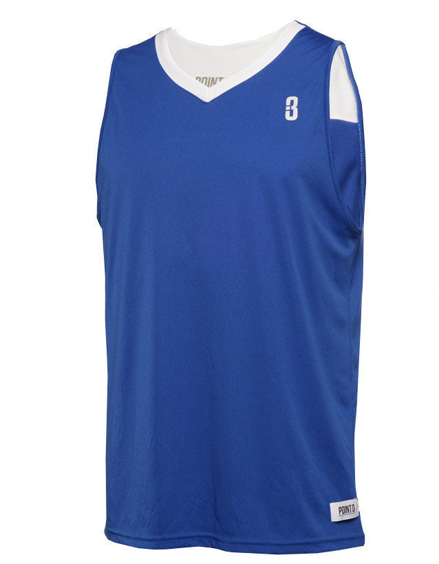 9625ea2307c POINT 3 Basketball. Home / Products / Youth Reversible Game Unisex Basketball  Jersey. YOUTH REVERSIBLE JERSEY Blue/White