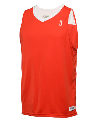 Reversible Game Unisex Basketball Jersey - Red/White