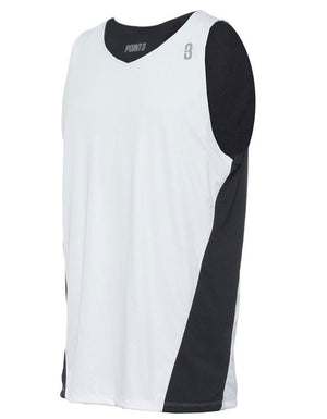 Reversible Game Unisex Basketball Jersey - Black/White Reverse Front