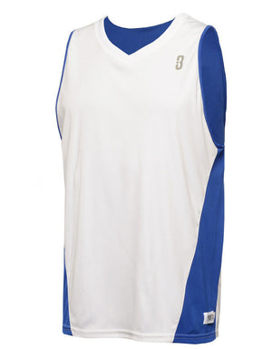 Reversible Game Unisex Basketball Jersey - Royal/White Reverse Front