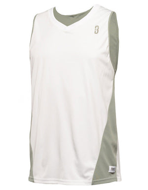 Reversible Game Unisex Basketball Jersey - White/Grey Reverse Front